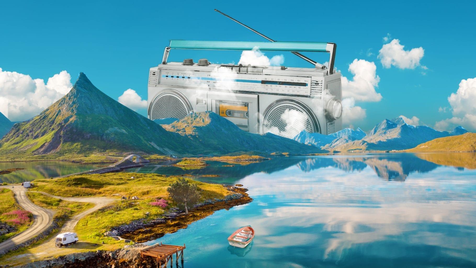 sommerbilde med radio